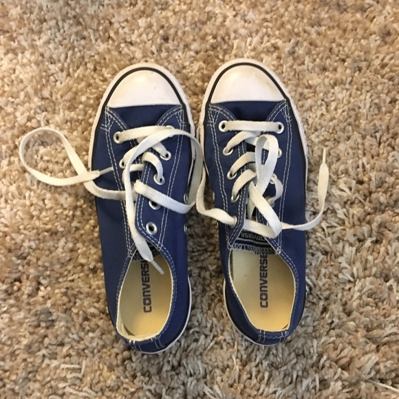 Other - Blue Converse Youth size 2 Unisex